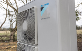 Daikin Air to Water heat pump unit.