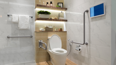 Disability bathroom from Kieran Moore Heating and Plumbing